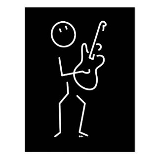 Electric guitar B&W Postcard