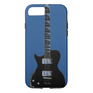 Electric Guitar Blue Black Pop Art iPhone 7 Case