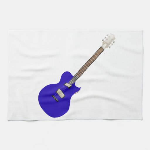 electric guitar blue graphic.png kitchen towels