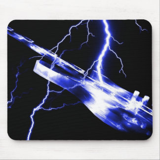 ELECTRIC GUITAR blue Mouse Pad