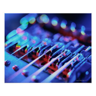 Electric Guitar Bridge Poster