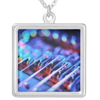 Electric Guitar Bridge Silver Plated Necklace