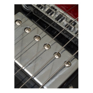 Electric Guitar Bridge, Strings Postcard