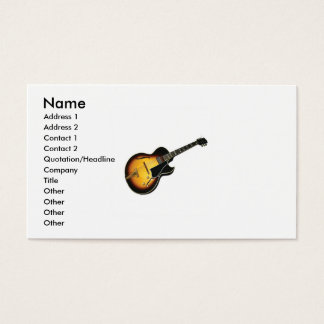 Electric Guitar business Card