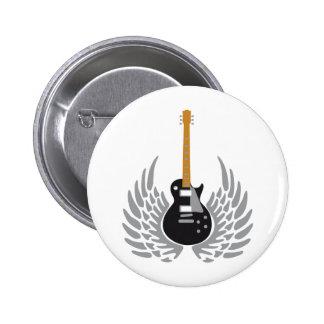 Electric guitar pinback buttons