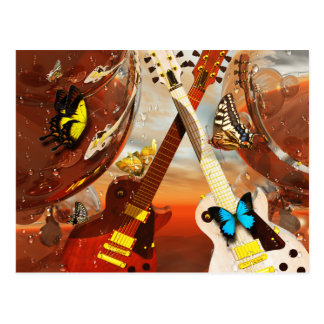 Electric guitar by Lenny art Postcard
