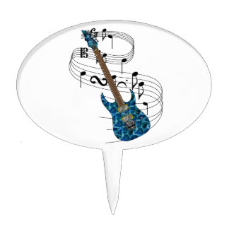 Electric Guitar Cake Topper