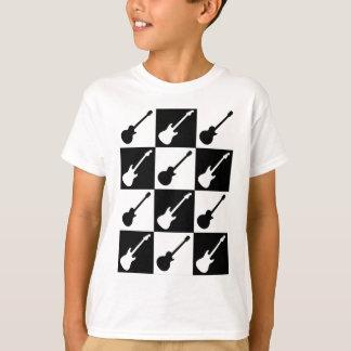 Electric Guitar Checkerboard T-Shirt