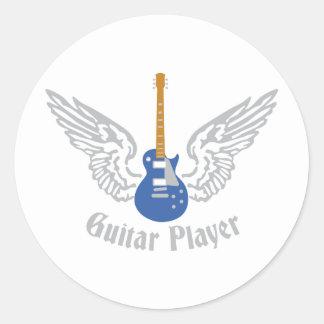 Electric guitar classic round sticker