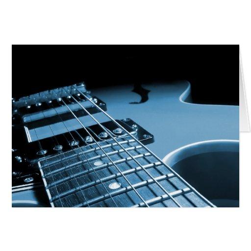 Electric Guitar Close Up - Blue Card