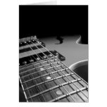 Electric Guitar Close Up - Grey B&W Card