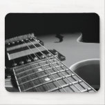 Electric Guitar Close Up - Grey B&W Mouse Pad