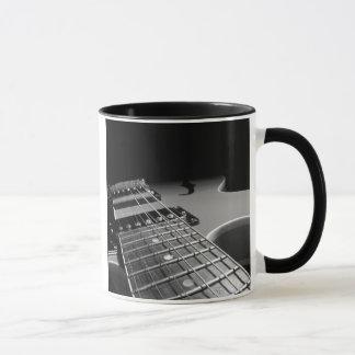 Electric Guitar Close Up - Grey B&W Mug