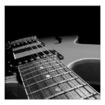 Electric Guitar Close Up - Grey B&W Posters