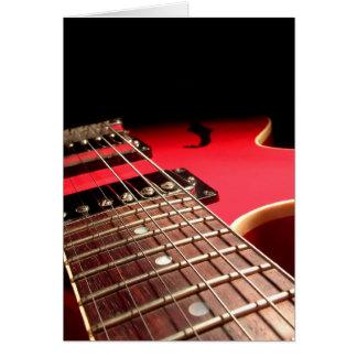 Electric Guitar Close Up - Original Red Card