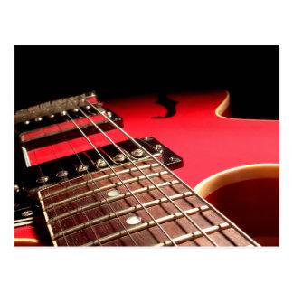 Electric Guitar Close Up - Original Red Postcard