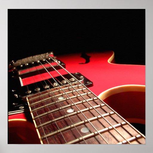 Electric Guitar Close Up - Original Red Print