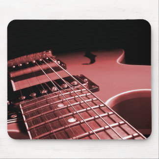 Electric Guitar Close Up Photo 6 String- Red Mouse Pad