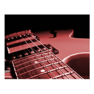 Electric Guitar Close Up Photo 6 String- Red Post Card
