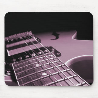 Electric Guitar Close Up -  Soft Pink Mouse Pad