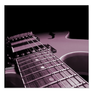 Electric Guitar Close Up -  Soft Pink Poster