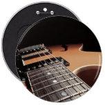Electric Guitar Close Up - Vintage Brown Button