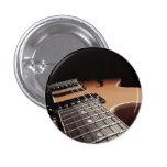 Electric Guitar Close Up - Vintage Brown Pinback Button