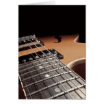 Electric Guitar Close Up - Vintage Brown Greeting Card