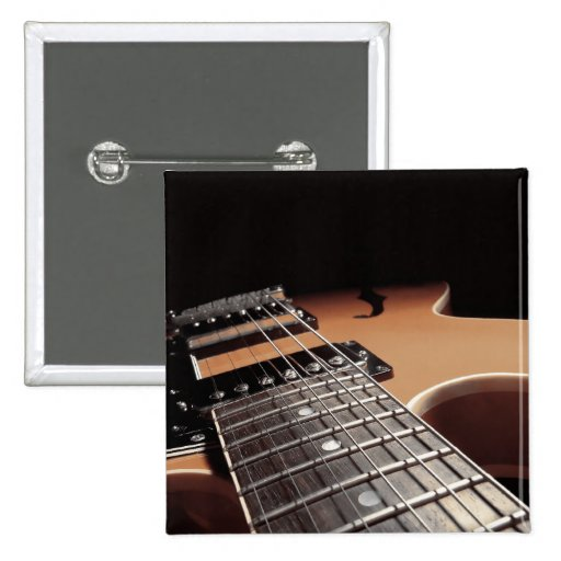 Electric Guitar Close Up - Vintage Brown Pin