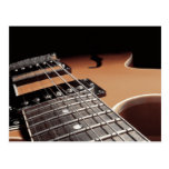 Electric Guitar Close Up - Vintage Brown Postcard