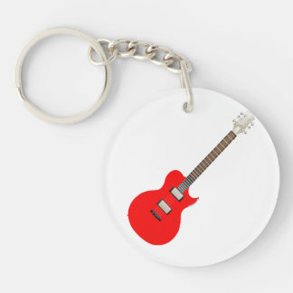 electric guitar copy.png Double-Sided round acrylic keychain