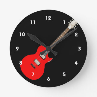 Musical Instrument Design Wall Clocks Zazzle