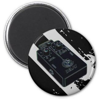 Electric Guitar Delay Pedal Black Magnet