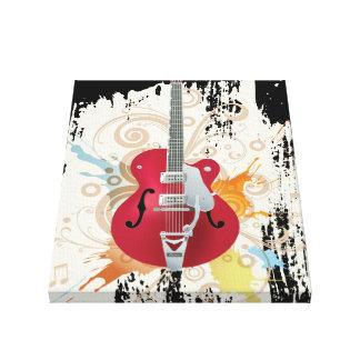 Electric Guitar Design Canvas Print