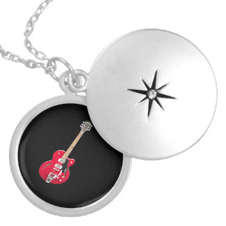 """Electric Guitar"" design jewelry set"