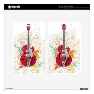 Electric Guitar Design Kindle Fire Skin