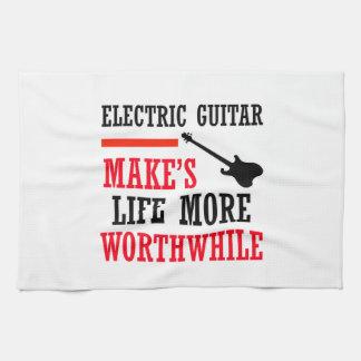 electric guitar design hand towels
