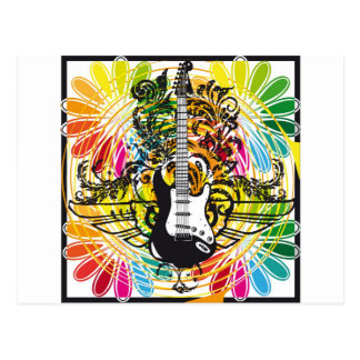 Electric Guitar design Postcards