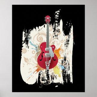 Electric Guitar Design Poster