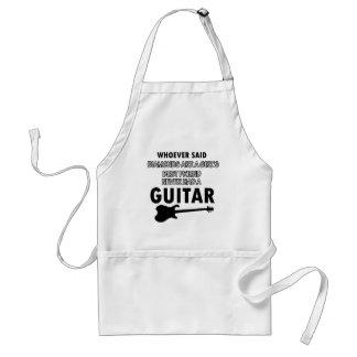 Electric Guitar designs Adult Apron