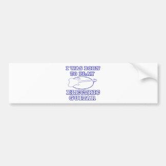 Electric Guitar Designs Bumper Sticker