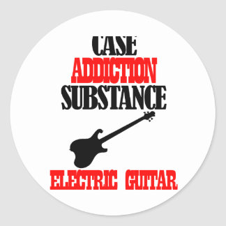 ELECTRIC GUITAR designs Classic Round Sticker