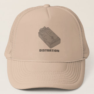 Electric Guitar Distortion Pedal White Charcoal Trucker Hat