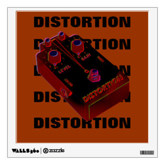 Electric Guitar Distortion Red & Black Wall Decal
