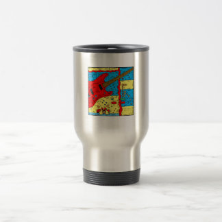 electric guitar drumset abstract collage red.png coffee mugs