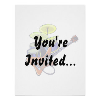 electric guitar drumset orange green.png personalized invites