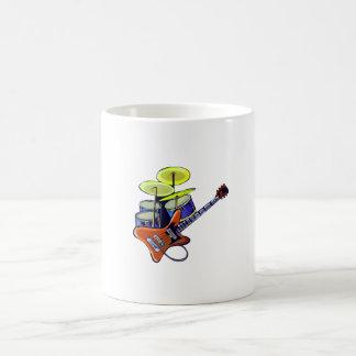 electric guitar drumset orange green.png coffee mugs
