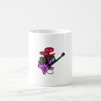 electric guitar drumset red pink.png coffee mug