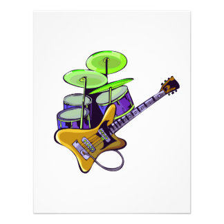 electric guitar drumset yellow.png custom invites
