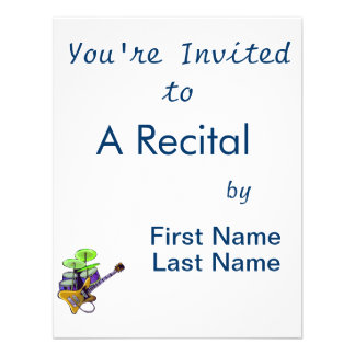 electric guitar drumset yellow.png invitation